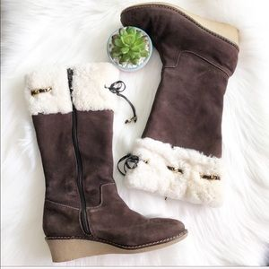 Michael Kors Brown Suede boots size 4.